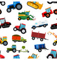 agriculture tractor machine industrial farm vector image vector image