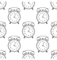 Alarm clock flat linear icon Seamless pattern vector image vector image