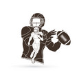 american football player action sportsman player vector image