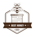 apiary and beekeeping honey natural product vector image vector image