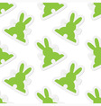 background seamless - Easter bunnies vector image vector image