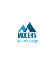badge for modern technology business vector image vector image