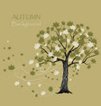 beautiful maple tree vector image vector image