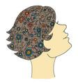 beauty woman zen tangle girl vector image vector image