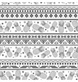 black and white tribal pineapples vector image vector image