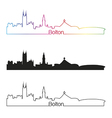 Bolton skyline linear style with rainbow vector image vector image