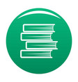 book student icon green vector image