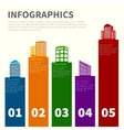 Building infographic set vector image vector image
