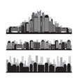 buildings and skyscrapers silhouette set vector image