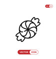 candy icon vector image vector image