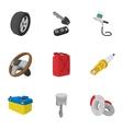 Car repairs icons set cartoon style vector image vector image