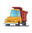 Cartoon Truck isolated on white background vector image vector image