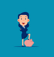 character pose with piggy bank safe money storage vector image vector image