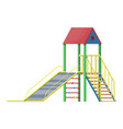 children slide with ladder and roof vector image
