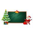 christmas on blackboard banner vector image