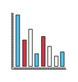 color sectors silhouette of column chart vector image