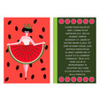 concept for the national watermelon day vector image vector image