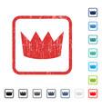 crown icon rubber watermark vector image vector image