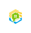 cube home real estate logo symbol icon design vector image vector image