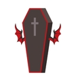 Dracula Coffin vector image