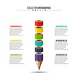 education infographic with 6 options vector image vector image