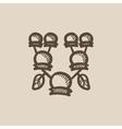Family tree sketch icon vector image vector image