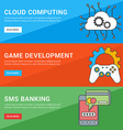Flat Design Concept Set of for Web Banners Cloud vector image vector image
