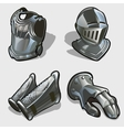 Four elements of knights armor vector image vector image