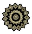 gold and black ornate greek mandala pattern vector image vector image