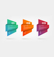 gradient infographics step by step element vector image
