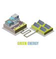 green energy concept isometric vector image