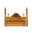 hagia sophia museum in istanbul turkey isolated vector image vector image