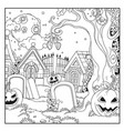 halloween background cemetery and crypts vector image vector image
