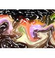 hand drawn artwork on water marble texture dark vector image vector image