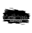 hartford connecticut usa city skyline silhouette vector image vector image