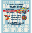 hot rod kids racing team vector image