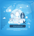 international social media communication web vector image vector image