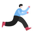 late person rushing in a hurry to get on time man vector image