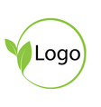 logo symbol environmental friendly template eco vector image vector image