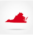 map of the us state of virginia vector image vector image