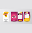 Mobile sale banners template set