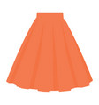 orange skirt template design fashion woman women vector image vector image