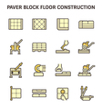 Paver block work vector image vector image