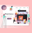 pharmacy website landing page design vector image vector image