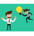 Piracy Thief stealing idea from businessman vector image vector image