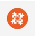 Puzzles pieces sign icon Strategy symbol vector image vector image