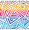 rainbow color maze pattern vector image vector image