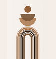 rainbow print boho minimalist printable wall art vector image vector image