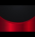 red and black metallic background vector image