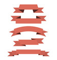 red paper scrolls set vector image
